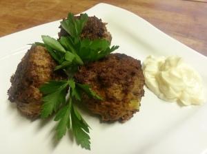 Harissa spiced lamb meatballs