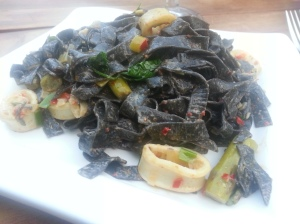squid ink fettuccine